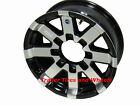 "16"" 8 Lug on 6.5"" Bolt Circle Series 07 Black Hi Spec HD Aluminum Trailer Wheel"