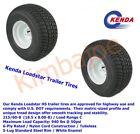2-Kenda LoadStar Tires & White Wheels 215/60-8,18.5 x 8.5 x 8 Load Range C