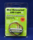 5ea ALW4LS 12V 4 LED RED POD STEP ACCENT AREA LIGHTING WATERPROOF IP67 STAINLESS