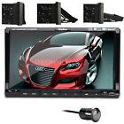 "2 Din 7"" Digital Touchscreen Car Stereo CD DVD Player Radio TV MP3 Rear Camera"