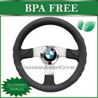 New Synthetic Leather DIY Car Steering Wheel Cover Black Sport Grip BMW3 SW706BK