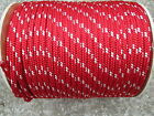 """1/2"""" X 50' Halyard sail line,anchor rope polyester double braid 8500 USA ,RED"""