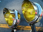 NEW PAIR OF 6 - VOLT 30`S 40`S 50`S VINTAGE STYLE SMALL FOG LIGHTS WITH VISORS