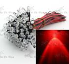 Wholesale 20pcs 5mm 20cm wired Red Clear Pre-wired 12V DC LED Light Lamp Bulb