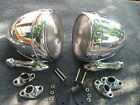 NEW PAIR OF RIGHT / LEFT CHROME VINTAGE STYLE DUMMY SPOT LIGHTS 86