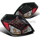 For 2007-2009 Nissan Altima 4dr Sedan LED Tail Lights Depo Black