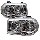 Pair Projector Head lights lamps Chrysler 300C 05-10 LED HALO Chrome 1 Yr Warran