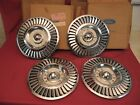 NOS 1957 Ford Thunderbird T-Bird Wheel Covers with Original Boxes B7A-1130-B1