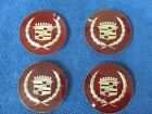 1980's CADILLAC WIRE WHEEL  CENTER COVERS   SET  NOS GM 415