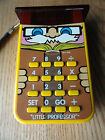 Little Professor Calculator Texas Instruments TI 1976 Yellow Vintage Works