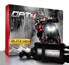 OPT7 Snowmobile HID Kit H4 9003 Hi-Lo 8000K 8K Blue Xenon Headlight Light Bulbs