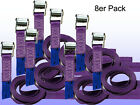 8ER Ratchet Strap Pack, Lashing with Clamping Lock Violet 35 800 Dan L = 3 M