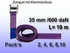 Tension Belt, Lashing Strap with Clamping Lock Violet 35 mm 600 Dan L=10 M