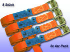 8ER Tension Belt with klemms. Orange B = 25 mm L = 6 M/250 Dan