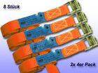 8ER Tension Belt with klemms. Orange B = 25 mm L = 2 M/250 Dan