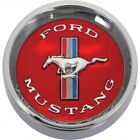 Ford Mustang Wheel Center Cap - 2-1/2 Diameter - Red Center - Imprinted Ford