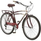 "29"" Schwinn Low Glide Men's Cruiser Bike, Dark Red, Retro Frame, Easy Ride, NEW!"