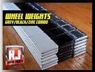 1 Box Wheel Weights Grey, Black, Zinc 1/4 oz. Stick On Adhesive Tape 9 LB 576 PC