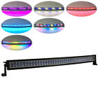 "240W 42"" Curved Offroad led light bar 4D Cree RGB Multi-color changing Jeep 4WD"