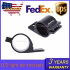 Pair 2inch LED Light Bar Mounting Brackets Clamp 49-54mm bumper front tube HID