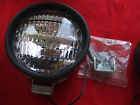 NOS DO-RAY #505 BLACK FOG LIGHTS WITH GE CLEAR BULBS. 5 INCH WITH BRACKETS.