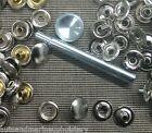 25 Cap /Button 25 Socket 25 Eyelet /Post 25 Stud =100 pack snap set w Tool & Die