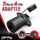 OPT7 7-Pin to 4 Way Adapter Tow Flat Blade Trailer Plug Connector Silverado 3500