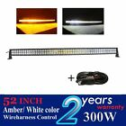 """300w 52"""" led light bar Curved Amber white color for SUV JEEP 4x4 offroad wagon"""