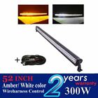 """300w 52"""" led light bar Straight Amber white color for truck SUV wagon off road"""