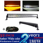 180w 32 inch Curved Amber white color led light bar for truck jeep suv off road