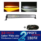 180w 32 inch Straight Amber white color led light bar for  jeep suv 4x4 offroad