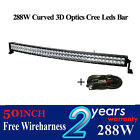 288w 50inch 3D Curved Combo cree OFFROAD DRIVING LAMP WORK SUV ATV CAR 4WD JEEP