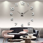 Modern 3D Frameless DIY Large Wall Clock Style Watches Hours Room Home Decor