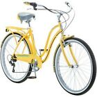 "Schwinn 26"" Women's Cruiser Bike 7-Speed Cycling Comfortable Bicycle Yellow NEW"