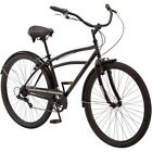 "29"" Men's Cruiser Bike 7-Speed Shimano Bicycle Schwinn Midway Rides Black NEW"