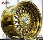 17X10 +15 ESM 002 4X114.3 GOLD CHROME RIM Fit Datsun 260Z 240Z 280Z FENDER FLARE