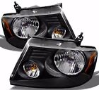 BEAVER COACH PATRIOT  2006 2007 2008 2009 BLACK HEADLIGHTS HEAD LAMPS RV - SET