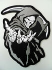Embroidered Biker Motorcycle Back Jacket REAPER Patch