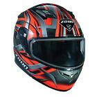 Zoan Flux 4.1 Snow Devil Orange Dual Lens Modular Flip Up Snowmobile Sled Helmet