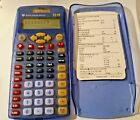 TEXAS INSTRUMENTS TI - 15 SOLAR BATTERY SCIENTIFIC CALCULATOR  TI-15 Blue +cover