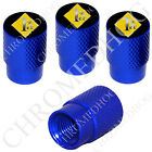 4 D Blue Billet Aluminum Knurled Tire Air Valve Stem Caps - 1% ER Percenter YDBS