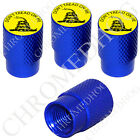 4 D Blue Billet Aluminum Knurled Tire Air Valve Stem Caps - Don't Tread on Me