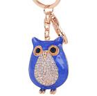 Car pendant Keychain Keyring Rhinestone Owl Key Chain Ring A247