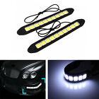 2x Waterproof White Car Auto COB Led Daytime Running Light Headlight Fog Lamp