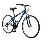 Hybrid Bikes Third Avenue 700C Men's Blue 21 Speed Steel Frame w/SR Suntour Fork
