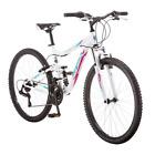 """Mountain Bike 26"""" Ledge 2.1 Women's White Purple Aluminum Full Suspension Frame"""