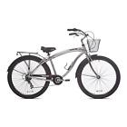 "Cruiser Bikes 29"" Mens Genesis GS7 Multi Speed Sliver Chrome Beach Commuter Ride"