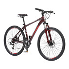 Mountain Bike 700c DSB Men's Oxblood Aluminum Frame 21 Speed Disc Sport Bicycle