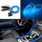 Car 6.5Ft EL Wire Blue Cold Light Neon Lamp Trim Atmosphere Fluorescent Strip