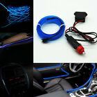 Universal Car Suv Interior Neon Lamp Strip Blue 6.5ft Cold Light Atmosphere Trim